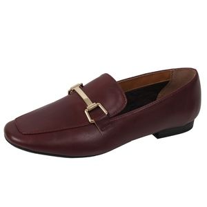 Shoes - Vino Gold Tone Horsebit Loafer Low Heel Sandal